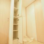 洗濯パン横には収納スペースもあるのでとても便利です(; ・`д・´)