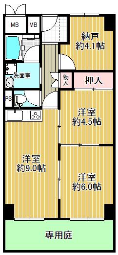 全居室洋室で、とても使いやすい間取りです(^_-)-☆