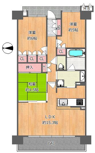 収納スペースも豊富で、とても使いやすい間取りです(*^_^*)