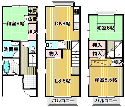 屋根裏収納付の3LDKです(^O^)/